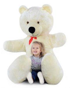 Grand nounours blanc 205cm, Ours en peluche géant énorme!