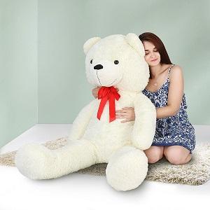 Infantastic - Grand Nounours géant Blanc 156 cm Ours en Peluche Géant Jouet Ourson Teddy Bear