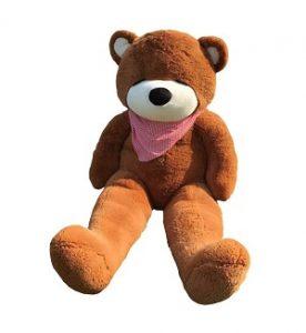 Joyfay Marque nounours en peluche 180cm 71 Ours en peluche géant Brun foncé Jouet Doux Poupée Lavable teddy bear cadeau pour adulte enfants