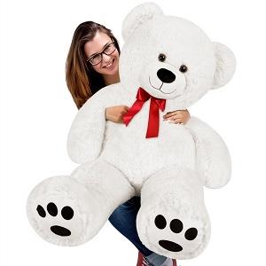 Nounours géant peluche ours XL Teddy Bear blanc