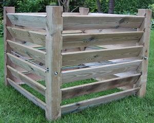 Unbekannt Composteur en bois pas cher robuste