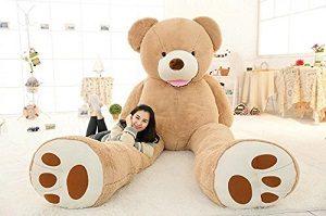 VERCART Teddy Bear Nounours géant en Peluche Géant Ours Peluches et Doudous