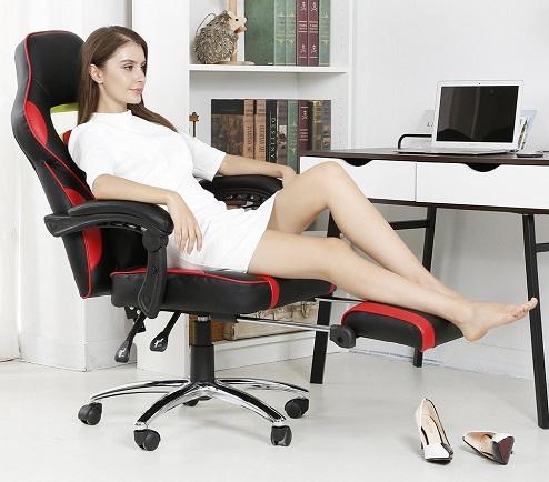 LANGRIA FUAINLOR-YKUK-F4 Fauteuil de Bureau Racing chaise gamer pas cher