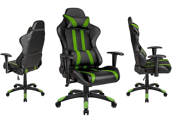 TecTake 800296 Chaise fauteuil siège de bureau racing