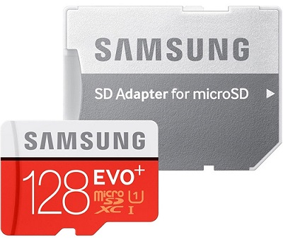 carte micro SD 128 Go Samsung Evo Plus, 128Go U3 MB-MC128DAEU
