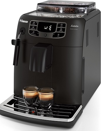 Cafetière Saeco HD890001 Machine à expresso automatique Intelia Evo Deluxe Black Classic à pannarello