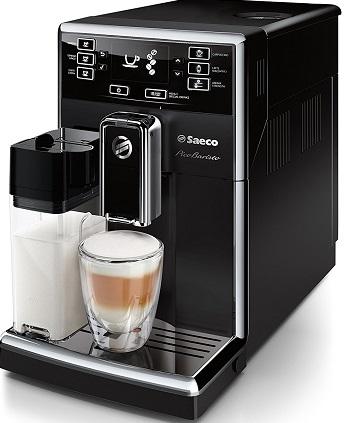 Cafetière Saeco hd892501 Picoba nugkuag à café automatique Système Lait intégré Noir
