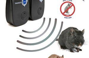Lot de 2 Répulsif souris rat à Ultrason anti rongeur