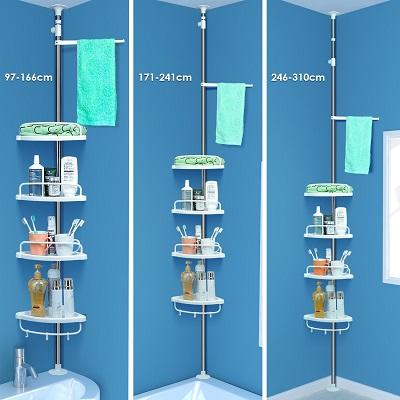 Etagère télescopique Meuble de salle de bain pas cher